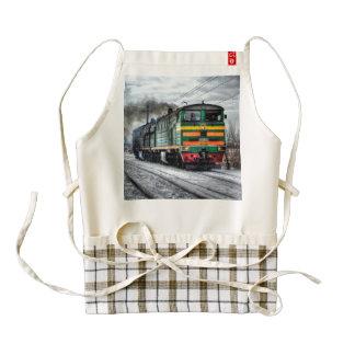 Diesel Train Locomotive Gifts Zazzle HEART Apron