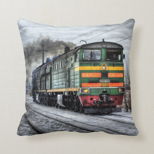 Diesel Train Locomotive Throw Pillow Gifts