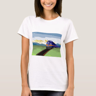 diesel train passenger freight locomotive T-Shirt