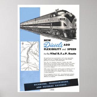 Dieseles del ferrocarril para El R.F.& vital P. Impresiones