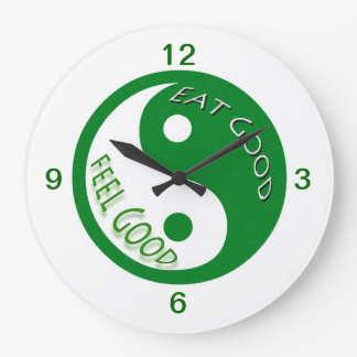 Diet and Weight Loss Eat Good Feel Good Large Clock