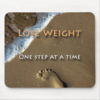 Diet and Weight Loss One Step At A Time Mouse Pad