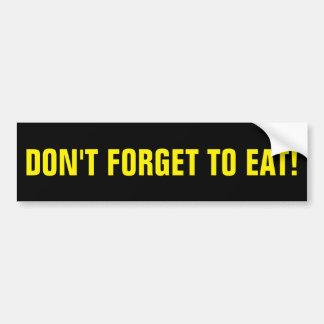 Diet Bumper Sticker