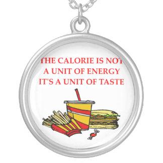 diet calorie joke custom necklace
