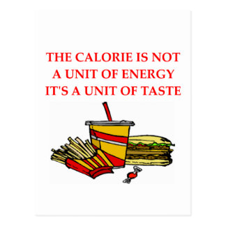 diet calorie joke postcard