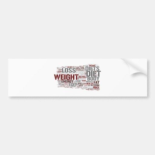 Diet Car Bumper Sticker