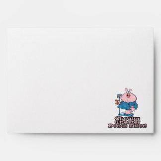 diet cheater donut eating piggy cartoon envelopes