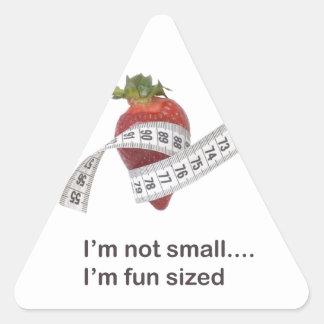 Diet concept triangle sticker
