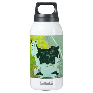 """""""Diet Free"""" , cows , humour, Insulated Water Bottle"""