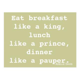 Diet Inspiration Postcard
