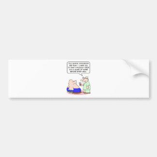 diet knockout drop doctor patient fat bumper sticker