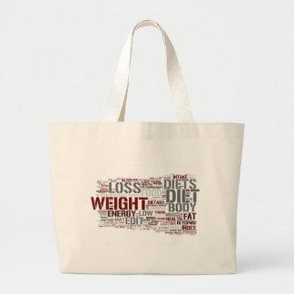 Diet Large Tote Bag