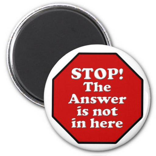 Diet Motivation Magnet, Stop Sign Refrigerator