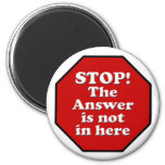 Diet Motivation Magnet, Stop Sign Refrigerator 2 Inch Round Magnet