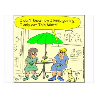 Diet of Thin Mints Cartoon Postcard
