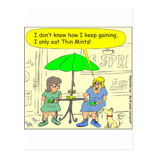 Diet of Thin Mints Cartoon Post Cards