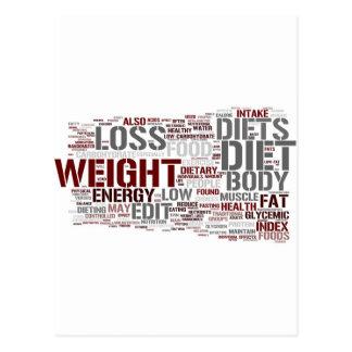 Diet Postcard