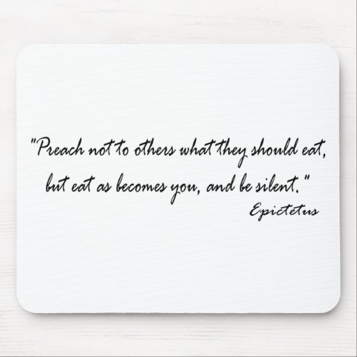 Diet Quote for the Dieter Mouse Pad