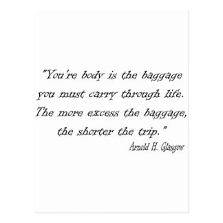 Diet Quote for the Dieter Postcard