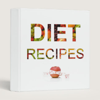 Diet Recipes and Conversion Binder