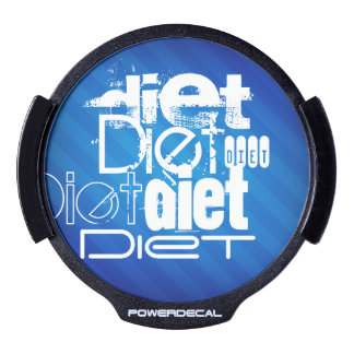 Diet; Royal Blue Stripes LED Window Decal