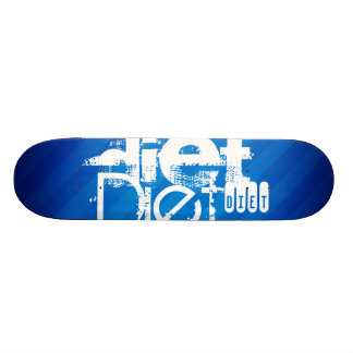 Diet; Royal Blue Stripes Skate Board