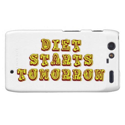 Diet Starts Tomorrow Droid RAZR Cases