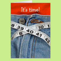 diet-tape measure belt on waistline card