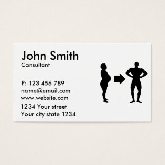 Diet weight reduction business card