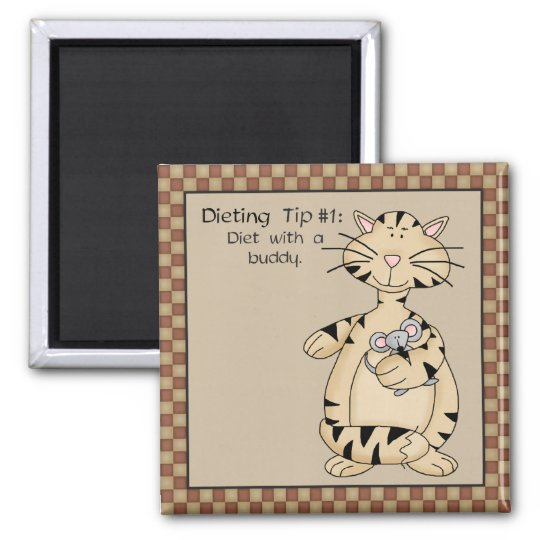 Diet with a Buddy - Fridge Magnet