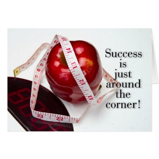 Dieta acertada tarjeta de felicitación