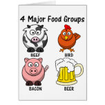 Dieta americana apropiada: Cuatro grupos de alimen Tarjeta