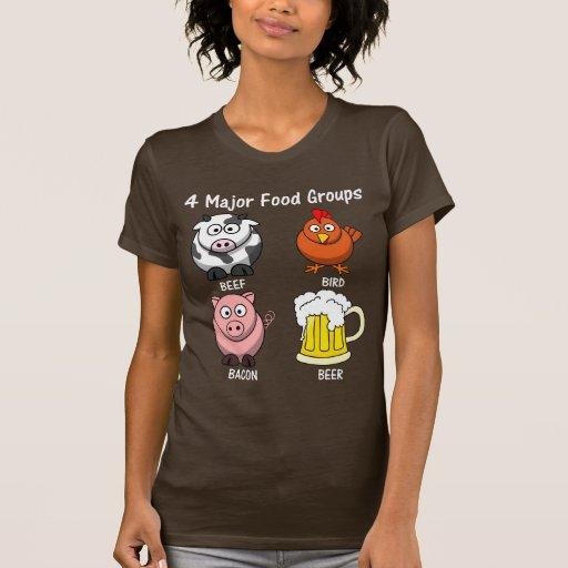 Dieta americana apropiada: Cuatro grupos de Camiseta