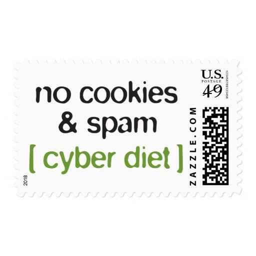 Dieta cibernética - ningunas galletas y Spam Envio