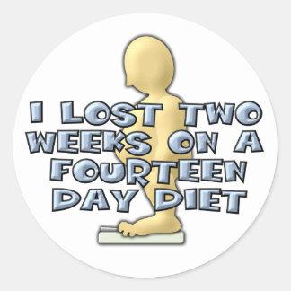 dieta de 14 días pegatina redonda