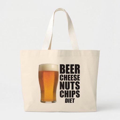 Dieta de la cerveza bolsa tela grande