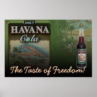 Dieta de la cola de La Habana el gusto de la impre Póster