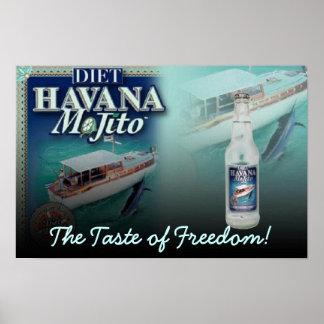 Dieta de La Habana Mojito el gusto de la lona de l Poster