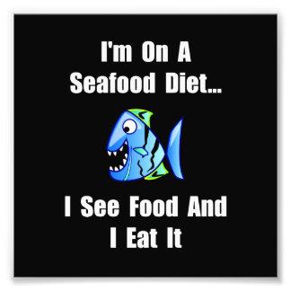 Dieta de los mariscos cojinete