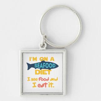 Dieta de los mariscos llaveros personalizados
