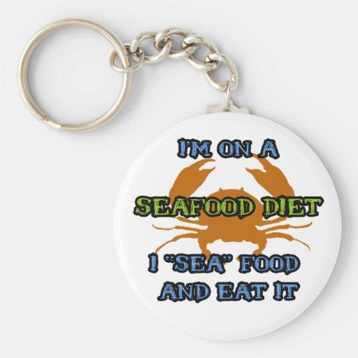Dieta de los mariscos llaveros