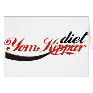 Dieta de Yom Kipur Tarjeta De Felicitación