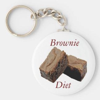 Dieta del brownie llavero personalizado