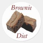 Dieta del brownie pegatina redonda