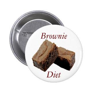 Dieta del brownie pin redondo de 2 pulgadas