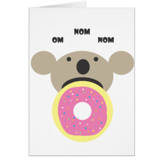 Dieta del buñuelo de la koala tarjeta de felicitación