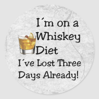 Dieta del whisky pegatina redonda
