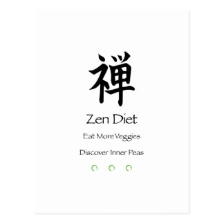 Dieta del zen - coma más Veggies - descubra los Postales