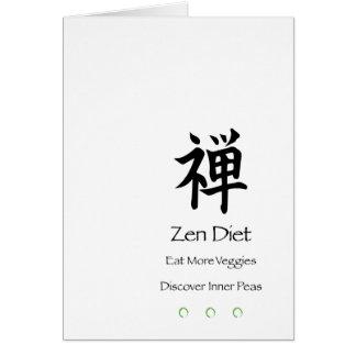 Dieta del zen - coma más Veggies - descubra los Tarjeta De Felicitación