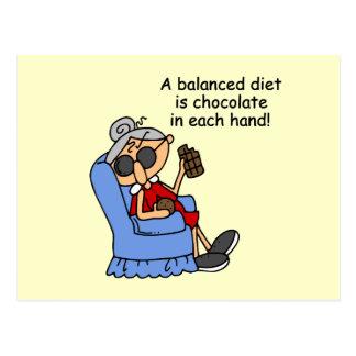 Dieta equilibrada del chocolate postales